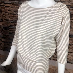 White House / black market long sleeve striped top